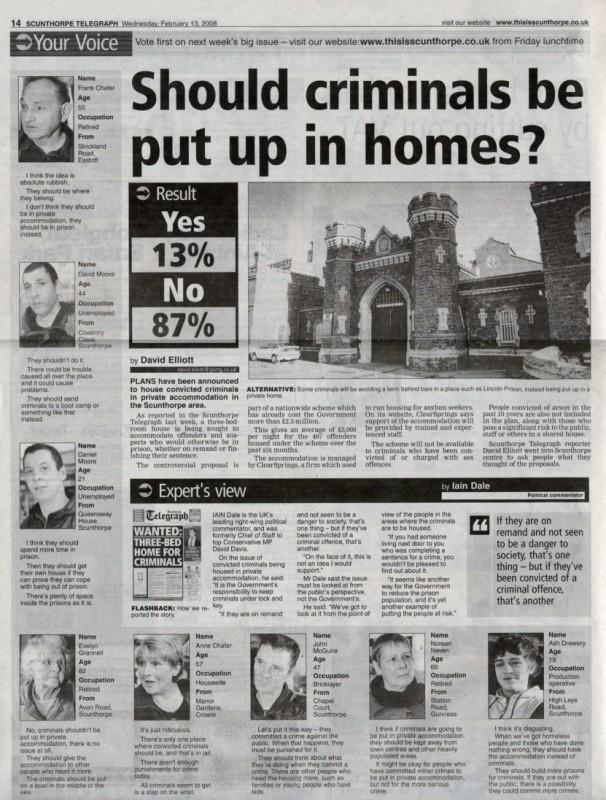 Should Criminals Be Put Up In Homes