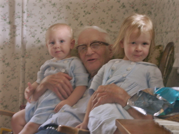 Uncle Lloyd with his grandkids