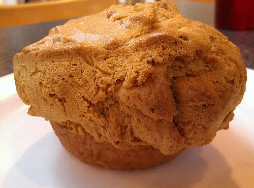 Giant Carrot Muffin - El Tesoro Cafe, Santa Fe NM